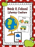 Back 2 School Literacy Centers