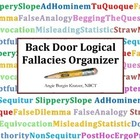 Back Door Logical Fallacies Organizer