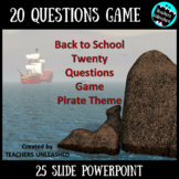 Back To School 20 Questions Game