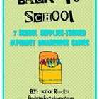 Back To School {7 school supplies-themed alphabet awarenes