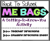 Back To School Activities: ME Bags!
