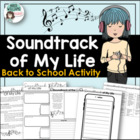 Back To School Activity - Soundtrack of My Life