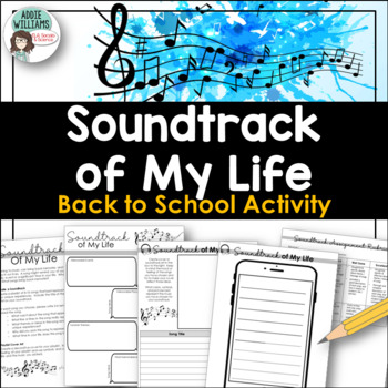 Back To School / Beginning of the Year Activity - Soundtrack of My Life