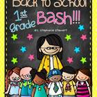 Back To School Bash 1st Grade {Back to School Unit}