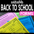 Back To School Basics:Forms & Letters {EDITABLE}