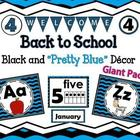 Black and Blue Classroom Decor