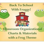 Back To School Classroom Organizer Set Frog Theme