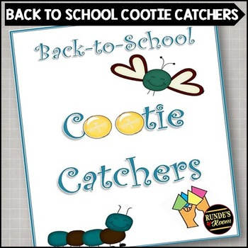 Back To School Cootie Catchers