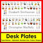 Back To School Desk Name Plates-MS Word Print Clearly Font