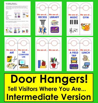 "Back To School Door Hangers-""We are at...""-For Intermediat"