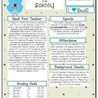 Back To School Letter- Polka Dot