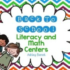 Back To School Literacy and Math Centers
