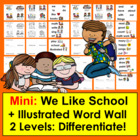 Back To School Mini-Books-SET ONE - 2 Levels-9 Versions&amp;Vo