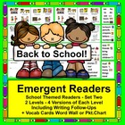 Back To School Mini-Books-SET TWO- 2 Levels-9 VersionsAndV