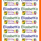 Back To School Name Labels - Writing Journals-Type Names