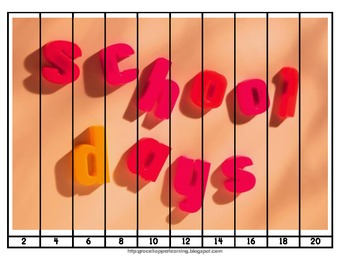 Back To School Number Order and Skip Counting Puzzles