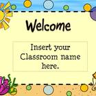 Back To School Ocean/BeachThemed Open House Powerpoint Template