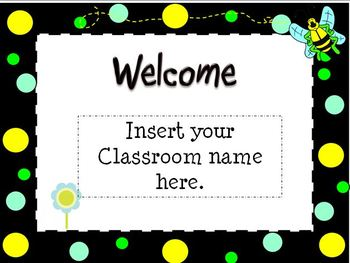 Back To School Open House Powerpoint Template: Bee Themed