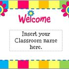 Back To School Open House Powerpoint Template: Flower Themed