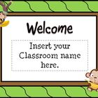 Back To School Open House Powerpoint Template/ Monkey Them