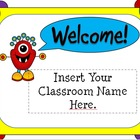 Back To School Open House Powerpoint Template: Monster Theme
