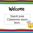 Back To School Open House Powerpoint Template: Rainbow The