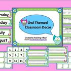 Back To School Owl Themed Open House Powerpoint &amp; Classroom Decor