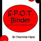 Back To School SPOT Binder (Black and Red): Organization a