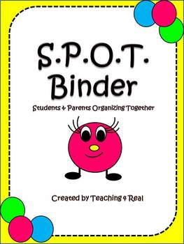 Back To School SPOT Binder: Organization and Communication