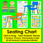 Seating Chart-Type Your Names-Just Click & Drag-3 Versions