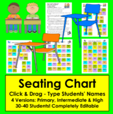 Back to School Seating Chart- Click & Drag! - Type Your Na