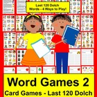 Sight Word Activities SET TWO 10 Sets Memory,123 Redlight! & More