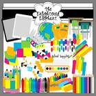 Back To School Supplies Clip Art Set 1