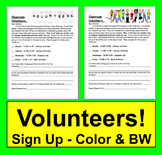 Back to School Volunteer Letter - Parents