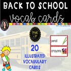 Back To School Word Cards Chevron