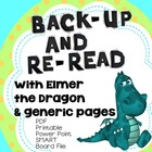 Back-Up and Reread, with ELMER AND THE DRAGON, Smart Board