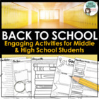 Back to School - 10 Literacy Activities to Engage Students