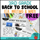 Back to School: 3rd Grade FREEBIE