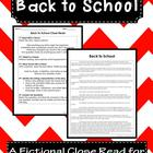 Back to School: A Fictional Close Read for 3rd-5th Grade