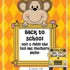 Back to School ABC Memory and Don&#039;t Miss the Bus! Game