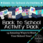 Back to School Activities - 12 Unique, Creative Activities