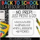BACK-TO-SCHOOL Resource Bundle (start-up and year-round wr