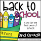 Back to School Activities-  Terrific Third Graders