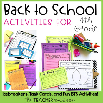 Back to School Activities for Fourth Grade