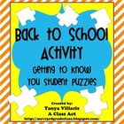 Back to School Activity - Getting to Know You Puzzles!