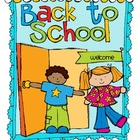 Back to School Activity Packet-{Grades 3-5}