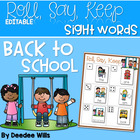 Back to School Alphabet Roll, Say, Keep