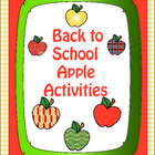 Back to School Apple Activities for Early Learners