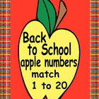 Back to School Apple Counting Number Cards 1 to 20