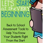 Let's Start at the Very Beginning {Back to School Assessme